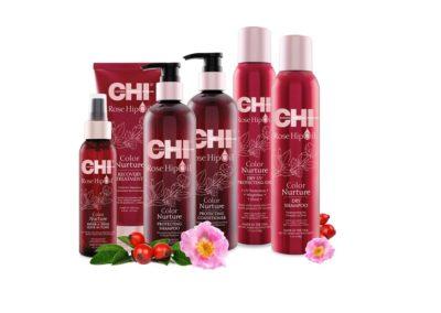 Producten uit de CHI Rose hip Oil lijn verkrijgbaar bij Soko kappers